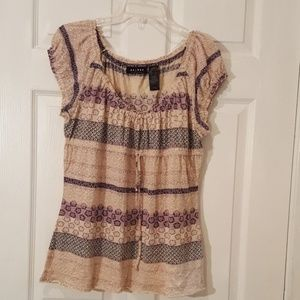 Axcess Peasant Top - L